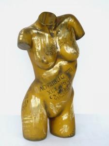 TORSO FEMALE GOLD FINISH 1