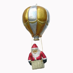 SANTA ON BALLOON W/  GLITTER 1