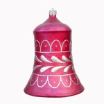 CHRISTMAS DÉCOR BELL RED W/ SILVER TRIM 1