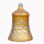 CHRISTMAS DÉCOR BELL GOLD W/ SILVER TRIM 1