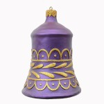 CHRISTMAS DÉCOR BELL PURPLE W/ GOLD TRIM 1