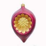 CHRISTMAS DÉCOR FLOWER DROP RED W/ GOLD 1