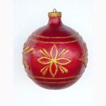 CHRISTMAS DÉCOR BALL  RED W/ GOLD TRIM 1