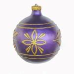 CHRISTMAS DÉCOR BALL PURPLE W/ GOLD TRIM 1