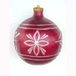CHRISTMAS DÉCOR BALL RED W/ SILVER 1