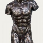 TORSO MALE BROWN W/ SILVER LEAF 1