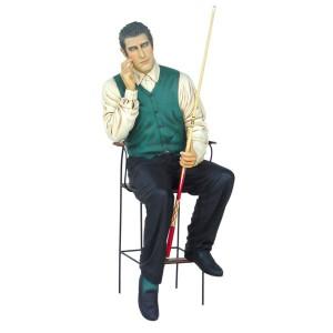 BILLIARD PLAYER SITTING 1