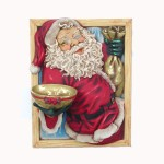 SANTA IN WINDOW W/ BOWL 1