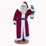 SANTA WITH REAL CLOTHES AND LANTERN 1
