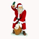 SANTA WITH REAL CLOTHES AND BAG 1