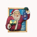 SANTA IN WINDOW W/  OIL LANTERN 1