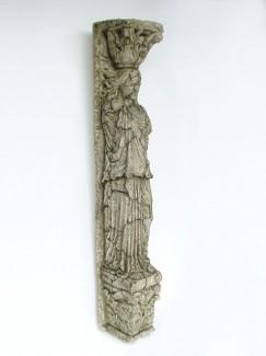 ROMAN COLUMN FEMALE STONE FINISH (GREY) 1