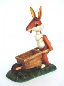 RABBIT WITH WHEELBARROW 1