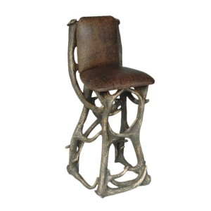 BARSTOOL LONGHORN WITH BACK REST 1