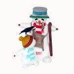 SNOWMAN WITH CHILD AND BIRD 1