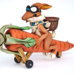 RABBIT ON CARROT WITH WHEELS 1