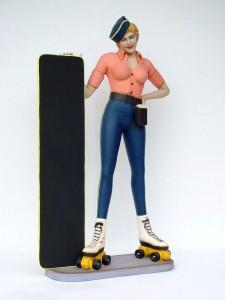 LADY ROLLER SKATER W/ MENU 1