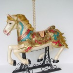 CAROUSEL HORSE with METAL BASE 1