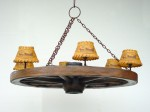 WAGON WHEEL CHANDELIER (6 LIGHTS) 1