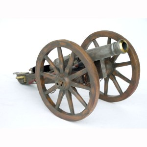 CANNON WITH WAGON WHEELS 1