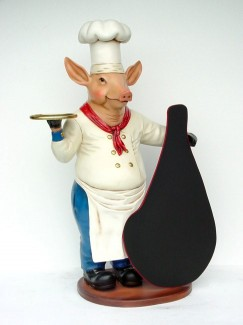 PIG CHEF WITH MENU 1