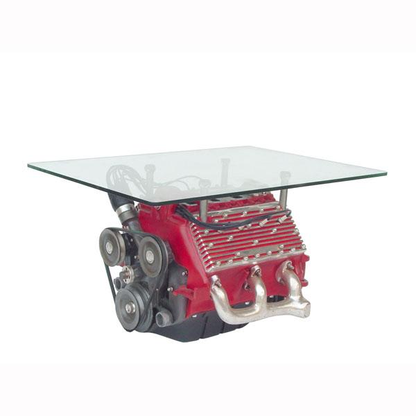 V8 Engine Glass Table: V8 ENGINE TABLE (excluding Glass
