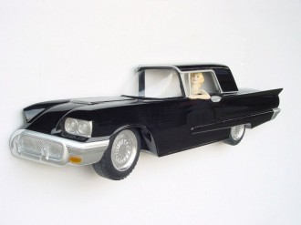 TB-CAR WALL DÉCOR W/ ACTRESS (Black) 1