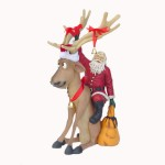 FUNNY REINDEER SITTING WITH SANTA CLAUS 1