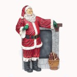 SANTA STANDING BESIDE A CHIMNEY 1