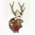 FUNNY CHRISTMAS REINDEER HEAD 1