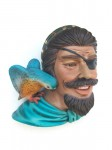 PIRATE HEAD WITH BIRD WALL DÉCOR 1