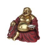 BUDDHA SITTING (RED & GOLD) 1