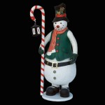 SNOWMAN WITH CANDY CANE AND LANTERN 1