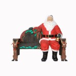SANTA CLAUS SITTING FOR X&#8217,MAS BENCH 1