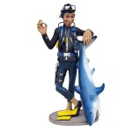 DIVER WITH SHARK (SMALL) 1