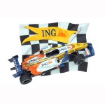 CHECKERED FLAG WITH RNT F1 REPLICA CAR WALL DÉCOR 1