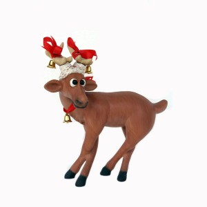 FUNNY REINDEER STANDING ON CROSSLEGS (1 FT) 1