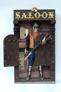 SKELETON COWBOY ON SALOON 1