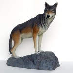 WOLF ON ROCK 1