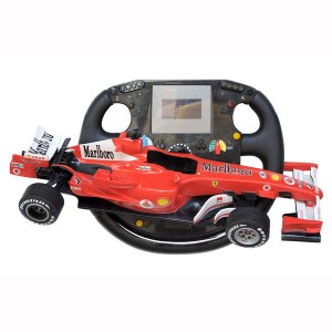STEERING WHEEL WITH FRR F1 HALF CAR AND CLOCK 1