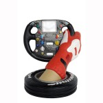 FRR F1 STEERING WHEEL WITH HAND AND TIRE 1