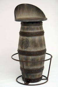 WINE BARREL BAR STOOL 1