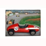 VINTAGE F1 CAR WALL DÉCOR WITH SPEEDWAY BACKGROUND 1