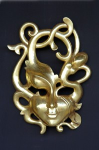 EROTIC MASK (GOLD) 1
