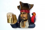 PIRATE HEAD WITH BEER AND BIRD WALL DÉCOR 1