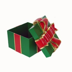 GIFT BOX WITH RED RIBBON 1