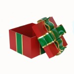 GIFT BOX WITH GREEN RIBBON 1