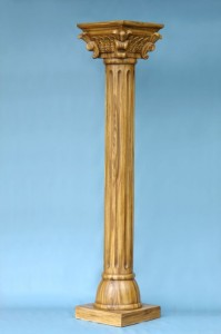 CORINTHIAN PILLAR (LIGHT WOOD) 1