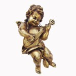 ANGEL HANGING WITH GUITAR IN FULL GOLD LEAF 1