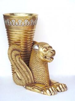 EGYPTIAN LION WITH VASE (Big) 1